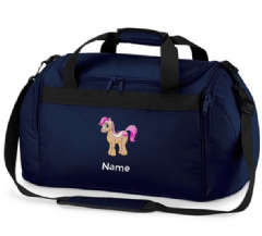 Personalised PINK PONY HORSE bag Mini Holdall  BG200